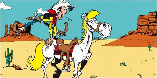 """Dans """"Lucky Luke"""", comment s'appelle le cheval du cow-boy ?"""